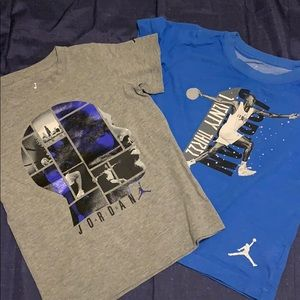 Two Jordan boys T shirt